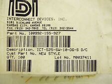 NEW Interconnect Devices 100992-155-927 Pogo Pins ICT-S25-SW-10-DG-S 89 pcs