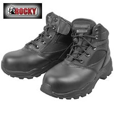 Rocky Chukka Composite Toe Work Boots - Black - Men's 6W
