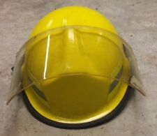 Yellow Lion Revolution Fire Rescue Helmet w/ Face Shield Neck Guard Chin Strap