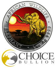 2016 Somalia Elephant at Sunset Silver Coin - 1oz 999 Silver Coin - Only 500!