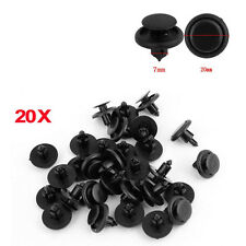 20pcs Car 7mm Bumper Fender Hole Black Plastic Rivets Fasteners Clip For Toyota