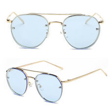Fashion Women's Gold Retro Cat Eye Sunglasses Oversized Designer Vintage Shades