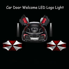 2x 3D Resident Evil Umbrella Logo Car Door Laser Projector Shadow CREE LED Light