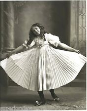 Vintage Dancing Girl Pleated Dance Dress Old Time Dancing Shoes Swirling Dress