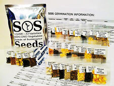 13,400 Seeds 33 Vegetable & Fruit Variety Pack Garden NON-GMO 2017 Varieties SOS