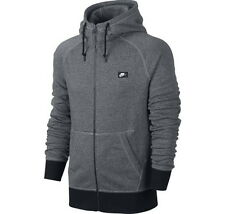 NIKE AW77 FRENCH TERRY FULL ZIP HOODIE MEN LARGE 678560-065 GRAY NWT SHOEBOX