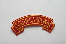 #6744 SOUTH CAROLINA Word Tag Embroidery Sew On Applique Patch