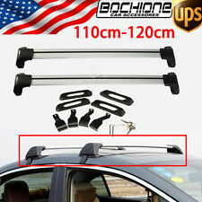 A Pair Of Luggag Cargo Cross Bars Roof Rack Carrier With Lock Universal 150LBS