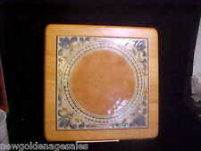LARGE ITALIAN TRIVET/TILE  SASSULO ITALY, IN A WOODEN FRAME NICE