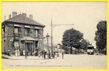 cpa 75 - PARIS Rue SORBIER Place MARTIN NADEAU TRAMWAY CRÊCHE LAÏQUE MUNICIPALE