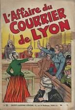 CLÉRICE FRÈRES . L'AFFAIRE DU COURRIER DE LYON N°2 . SPE . 1938 . RARE .