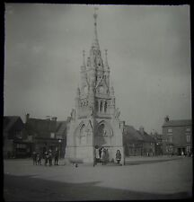 Glass Magic Lantern Slide STRATFORD UPON AVON CROSS C1910 PHOTO ENGLAND