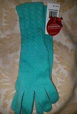 Charter Club Touch of Cashmere Womens Wool Blend Knit Green Winter Gloves New