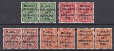 Ireland 1922 Harrison coil paste-up join pairs scott 19-22a SG26-29a Mint