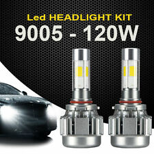 2x 120W 12000LM COB 9005 LED Car Headlight Kit White Beams 6000K Bulb High Power