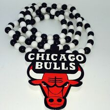 Chicago Bulls Wooden Pendant Kette Rosary Necklace Chain Collier Catena Collana