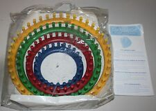Knifty Knitter Round Loom Series 4 Looms with Instructions Provo Craft