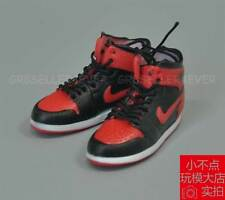 """1/6 scale NIKEAIR BLACK-Red Sport Sneaker Basketball shoes boots fit 12"""" figure"""
