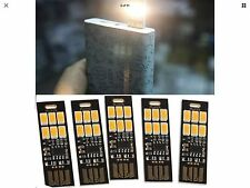 5PCS Soshine USB Power 6 LED Night Light 1W 5V Touch Dimmer Function, Low cost