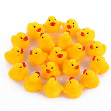 10* Baby Kids Squeaky Rubber Ducks Bath Toys Children Water Swimming Newborn Boy