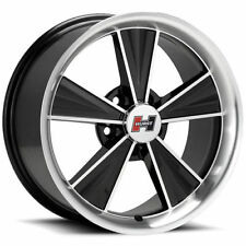 15X8 HURST DAZZLER HT324 BLACK / MACHINED VINTAGE MAG TORQ ALUMINUM WHEEL 5X4.75