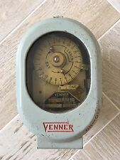 ANTIQUE VINTAGE INDUSTRIAL VENNER TIME SWITCH CLOCK 240V ANALOGUE GPO BRASS LAMP