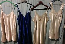 LOT OF 4 WOMENS SIZE L EUC SILK LINGERIE CREAM * ROYAL BLUE *