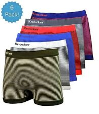 6 Mens Microfiber Boxer Briefs #MS37 Underwear Compression Knocker One Size