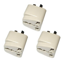 3x HQRP US to Australian (AU) Chinese (CH) Argentinean (ARG) Travel Plug Adapter