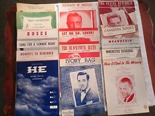 Vintage 1950's and 60's Sheet Music, Lot of 15, AS IS!!!  FANTASTIC!!!