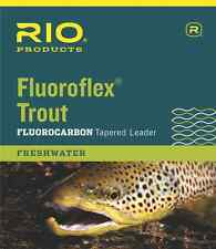 NEW RIO FLUOROFLEX 9FT 4X TAPERED TROUT LEADER flyfishing invisible loop