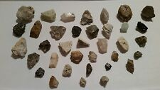 Gem and mineral specimen set. You identify. Mined in the Maine mountains. 35 pc