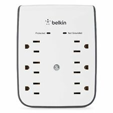 Wall Mount Surge Protector with Dual USB Ports 2.1 AMP 6 Outlet by Belkin