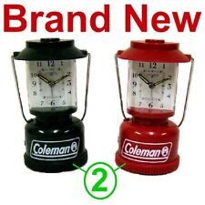 2 Coleman Alarm Lantern Light Clocks,1 Green & 1 Red Clock,New