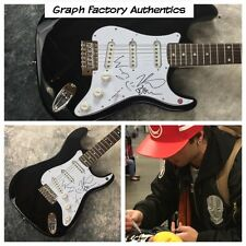 GFA Keaton Wesley & Drew * EMBLEM3 * Signed Electric Guitar PROOF AD2 COA