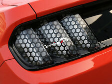 Rear Tail Light Honeycomb Style Stickers Cover Trim for Ford Mustang 2015 - 2017