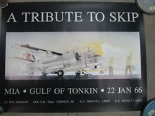 TRIBUTE TO SKIP S-2 TRACKER VS-35 VIETNAM US NAVY AVIATION ART POSTER PRINT