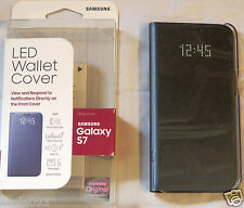 Samsung Galaxy S7 Case LED Wallet Cover Black EF-NG930PBEGUS OPEN BOX