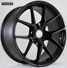 18X9 +15 AodHan LS007 5X114.3 Black Wheel Fit STI 3000GT 300ZX SUPRA TURBO 5X4.5