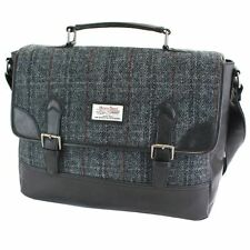 Harris Tweed Satchel Briefcase Black & Grey NEW   25141