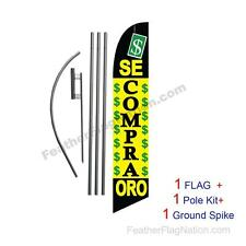 Se Compra Oro 15' Feather Banner Swooper Flag Kit with pole+spike