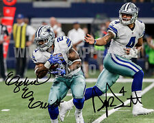 EZEKIEL ELLIOTT & DAK PRESCOTT Autographed 8x10 Photo - Dallas Cowboys - RP