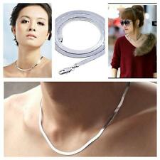 High Quality Silver Plated Necklace UNISEX Short Paragraph Clavicle Blade Chain