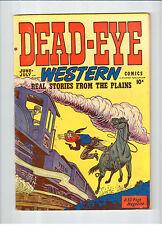 Hillman DEAD-EYE WESTERN Vol.1 #10 June-July 1950 vintage comic