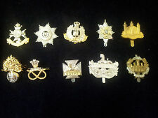 COLLECTORS LOT 10 No BRITISH INFANTRY CAP BADGES LOT 4 NEW/VGC FREE UK POST