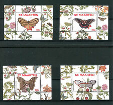 St Maarten 2016 MNH Butterflies Series II 4x 1v S/S 1-4 Vlinders Insects Stamps