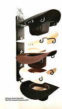 American Made Cowboy Hat Holder with Stars Powder Coated Bull Rider Black