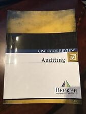 Becker CPA Review Books, Auditing, FAR, BEC and REG, Paperback textbook