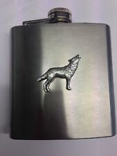 Wolf PP-A26 English Pewter 6oz Stainless Steel Hip Flask