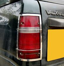 Chrome Rear Light Guards for Vauxhall Frontera Sport LWB trim lamp grilles new